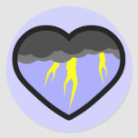 Air Elemental Heart Classic Round Sticker