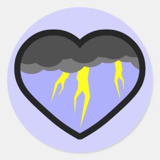 Air Elemental Heart Classic Round Sticker