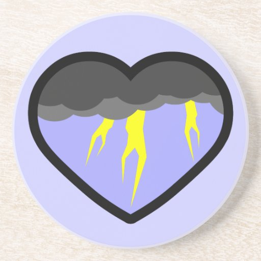 Air Elemental Heart Drink Coasters