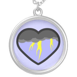 Air Elemental Heart Necklace