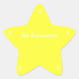 Air Evocation Star Sticker