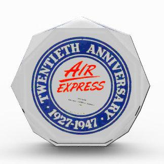 Air Express 20th Anniversary Acrylic Award