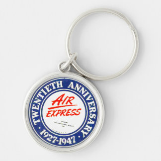 Air Express 20th Anniversary Premium Keychain Silver-Colored Round Keychain