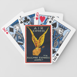 Air Express Via Railway Express Agency Bicycle Playing Cards