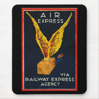 Air Express Via Railway Express Agency Mouse Pad