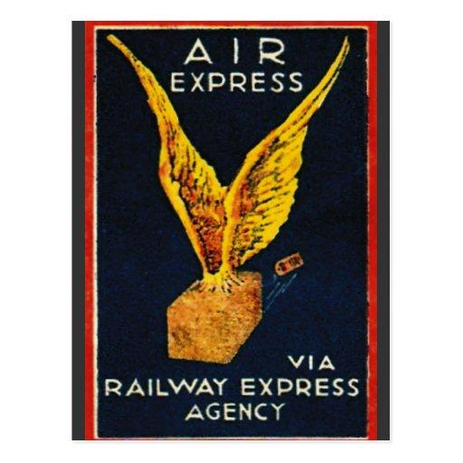 Air Express Via Railway Express Agency Post Cards