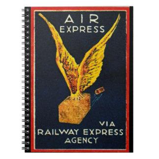 Air Express Via Railway Express Agency Spiral Notebook