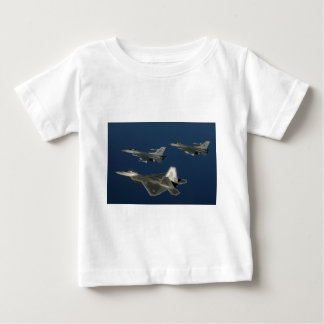 AIR_F-22A_F-16s_Over_Water_lg.jpg Baby T-Shirt