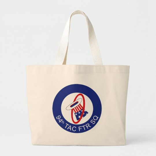 Air Force 94th Tactical Fighter Squadron Large Tote Bag