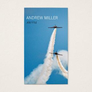 Air Force Aerobatic Team Air Show Formation Business Card