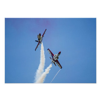Air Force Aerobatic Team Air Show Formation Poster