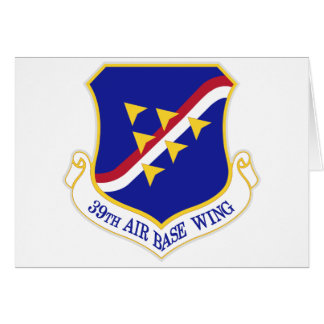 Air Force Air Base Wing Card