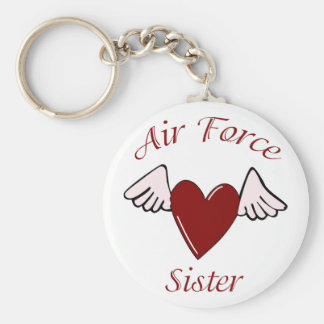 Air Force Angel (Sister) Basic Round Button Keychain