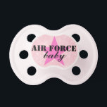 "&quot;Air Force Baby&quot; Girls Patriotic Military Pacifier<br><div class=""desc"">Air Force baby</div>"