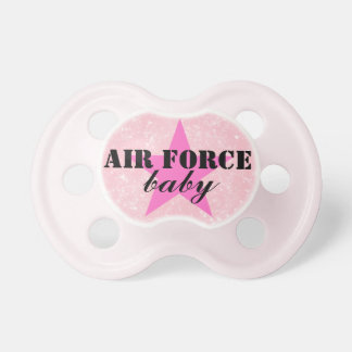 """""""Air Force Baby"""" Girls Patriotic Military Pacifier BooginHead Pacifier"""