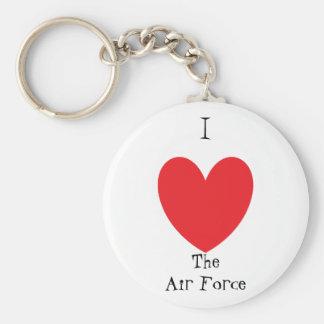 Air Force Basic Round Button Keychain