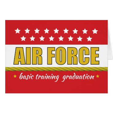 Air Force Basic Training Graduation Congrats Card
