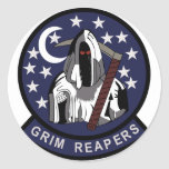 AIR FORCE BLACK OPS AREA 51 4451st GRIM REAPERS ST Round Stickers
