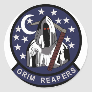 AIR FORCE BLACK OPS AREA 51 4451st GRIM REAPERS ST Classic Round Sticker