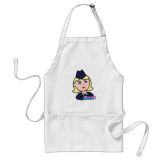 Air Force Blonde Head Adult Apron