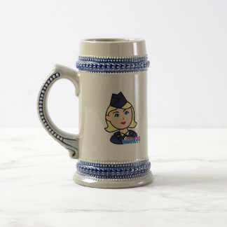 Air Force Blonde Head Beer Stein