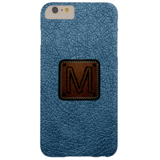 Air Force blue (RAF) Leather Look Monogram Barely There iPhone 6 Plus Case