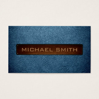 Air Force blue (RAF) Leather Look Professional Business Card