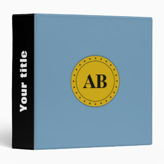 Air force blue solid color binder