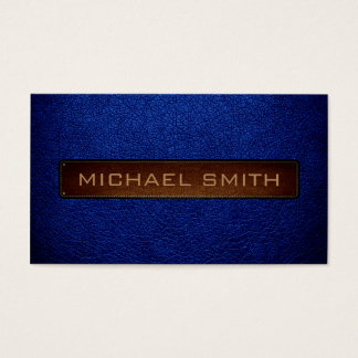 Air Force blue (USAF) Leather Look Professional Business Card