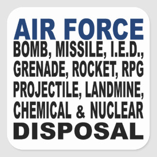 Air Force Bomb etc. Disposal Square Sticker
