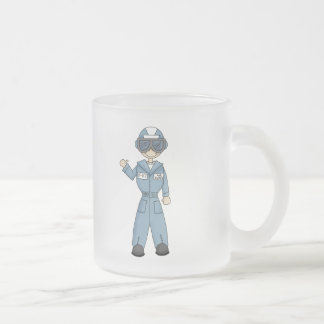 Air Force Boy Frosted Glass Coffee Mug