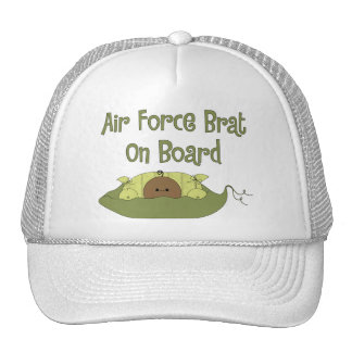 Air Force Brat On Board African American Mesh Hat