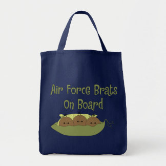 Air Force Brats On Board Triplet (African American Tote Bags
