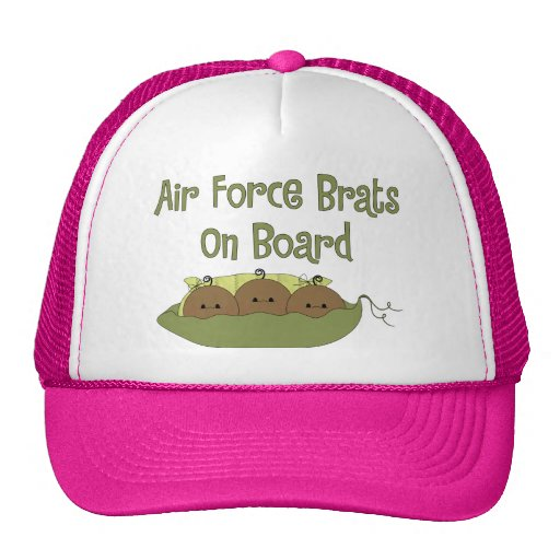 Air Force Brats On Board Triplet (African American Hat