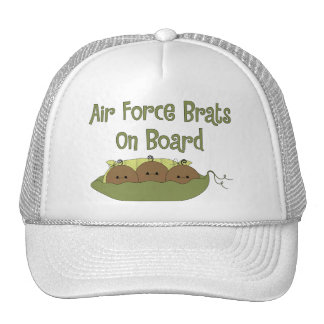 Air Force Brats On Board Triplet African American Hats