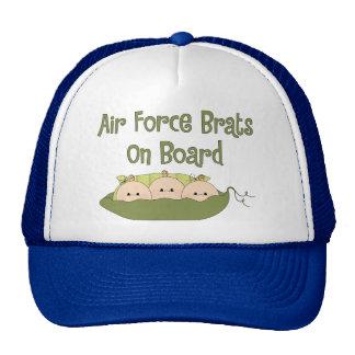 Air Force Brats On Board Triplets Caucasian Mesh Hat
