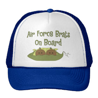 Air Force Brats On Board Twins African American Hats