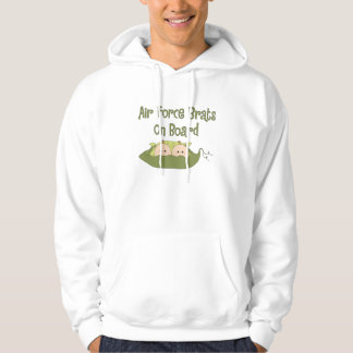 Air Force Brats On Board Twins (Caucasian) Hoodie