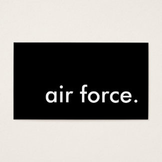 air force. business card