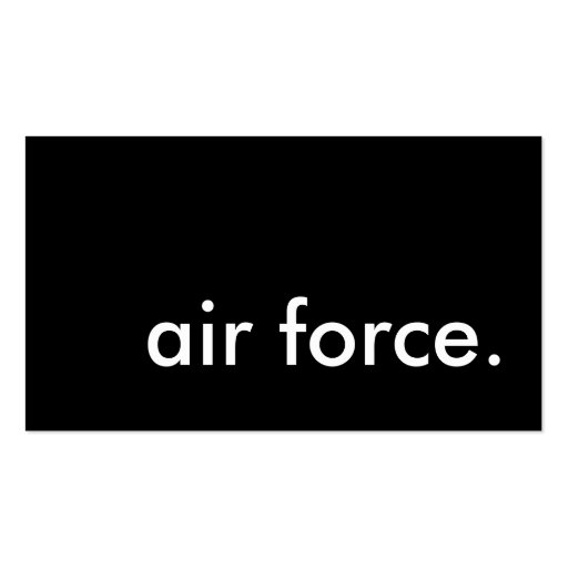 air force. business cards