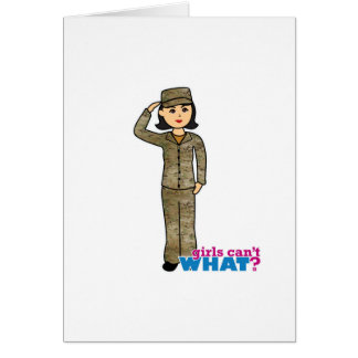 Air Force Camo Black Hair Card