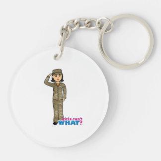 Air Force Camo Black Hair Keychain
