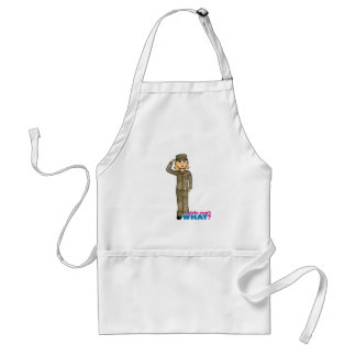 Air Force Camo Blonde Adult Apron