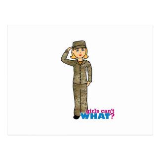 Air Force Camo Blonde Postcard