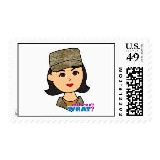 Air Force Camo Head Medium Postage