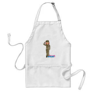 Air Force Camo Red Adult Apron