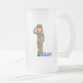 Air Force Camo Red Frosted Glass Beer Mug