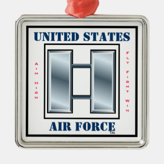 Air Force Captain O-3 Metal Ornament