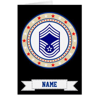 Air Force Chief Master Sergeant CMSgt E-9 Card