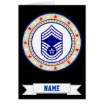 Air Force Chief Master Sergeant CMSgt E-9 Greeting Card